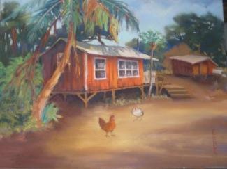'Maui Plantation House' Pastel on sanded paper, 14 x 18, prints available
