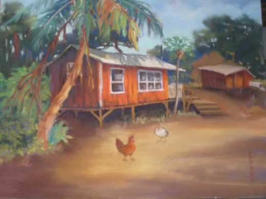 'Maui Plantation House' Pastel on sanded paper, 14 x 18, prints available