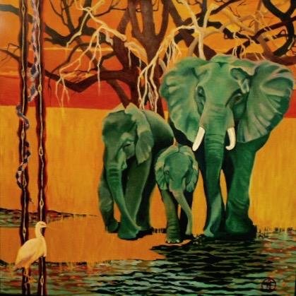 Acrylic on canvas, 36 x 36