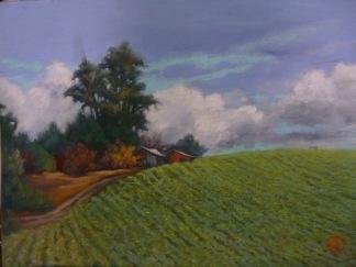 Pastel on sanded paper, 16 x 20