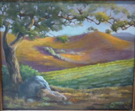 'Alexander Valley' Oil on Canvas, 18 x 24
